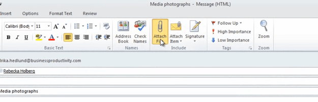How to compress picture email attachments